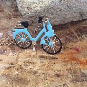 NWT BETSEY JOHNSON Light Blue Mini Mountain Bike!!